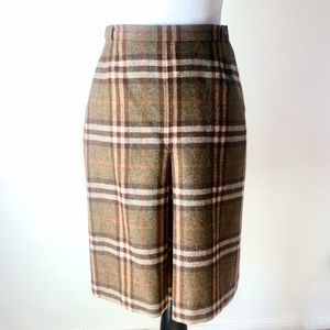 Vintage Burberrys Nova Check front pleat skirt  S